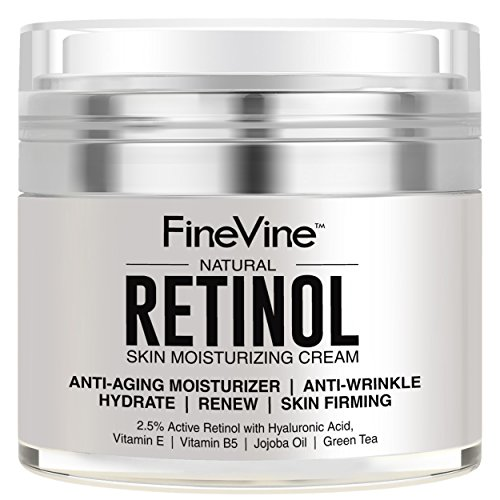 Retinol Moisturizer Cream for Face and Eye Area - Made in USA - with Hyaluronic Acid, Vitamin E - Best Day and Night Anti Aging Formula to Reduce Wrinkles, Fine -