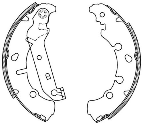 Open Parts BSA2066.00 Brake Shoe Set Rear 4 Piece