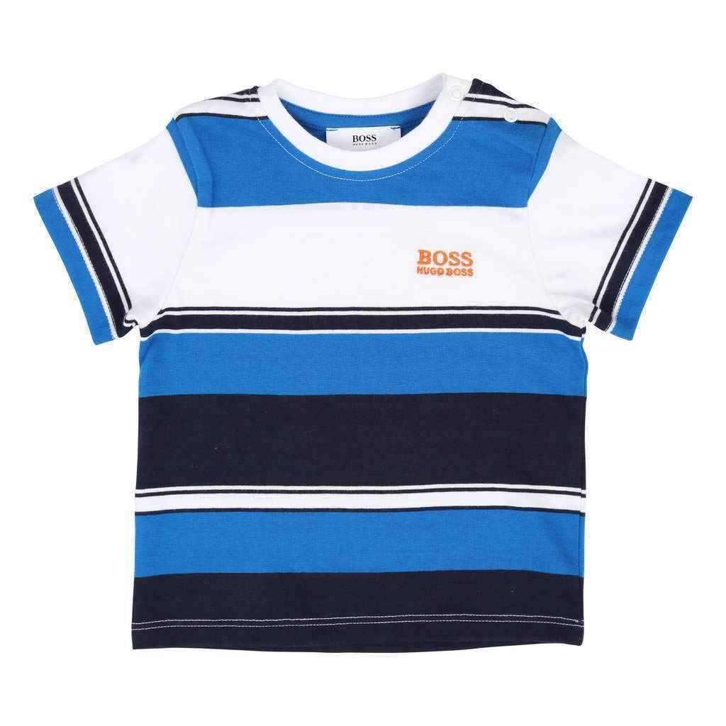 Hugo Boss Kids Navy Blue Short Sleeves T-Shirt