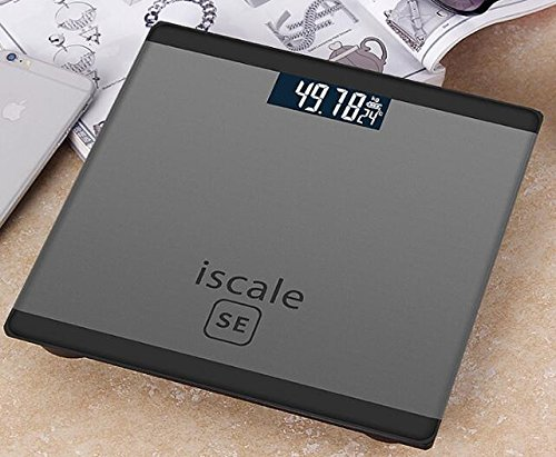 LCD Display Digital Body Weight Bathroom Scale with Step-On Technology 400 Pounds, Tempered Glass, Digital Weight Scale Backlit (Golden) LOVEDAY