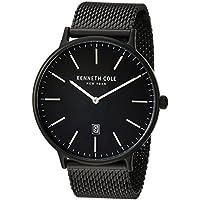 Kenneth Cole New York Men's 'Classic' Quartz Stainless Steel Dress Watch, Color:Black (Model: KC15057012)