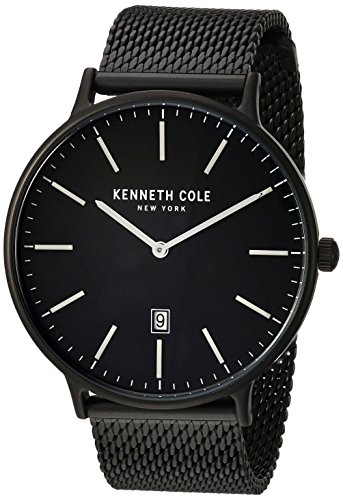 Kenneth Cole New York Men's 'Classic' Quartz Stainless Steel Dress Watch, Color:Black (Model: KC15057012)
