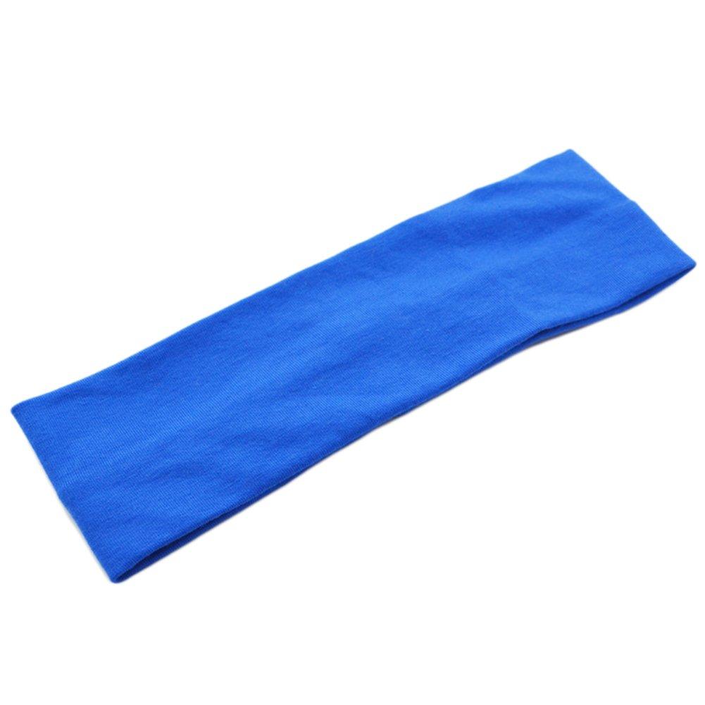 BIGBOBA Bandeaux Headbands Hairband Bande de Cheveux Bandeau en Plein Air Bande de Cheveux Unisexe Cheveux Tiara élastique Couleur Unie Bande de Cheveux(Bleu)