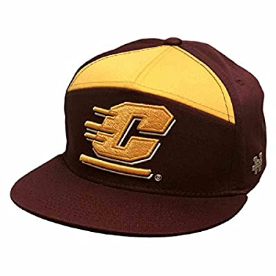 University of Central Michigan CMICH Chippewas NCAA 7 Panel Flat Bill Snapback Baseball Cap Hat