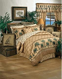 kona palm tree tropical queen sheet set