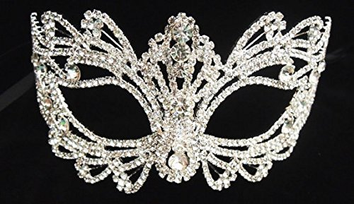 Best Sell - Rhinestone Crystal Masquerade Mask Base-wedding Mas -Good Madk/Black Mask -Halloween Mask -Cake Topper -Table Setting 7