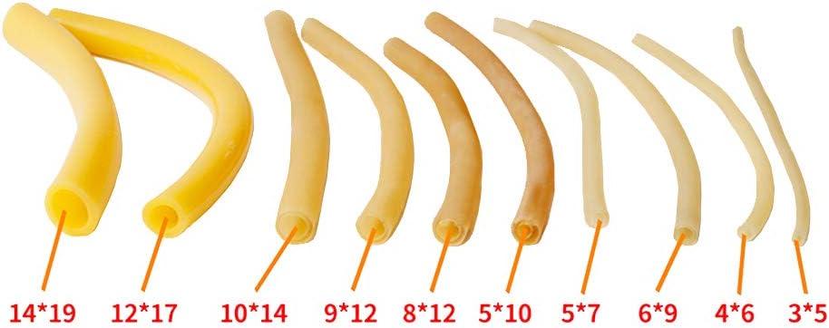 tanstool Tube /Élastique en Latex Naturel Bande Elastique en Caoutchouc de Fronde 3mm ID x 6mm OD /Épaisseur de paroi 1mm 20 m/ètre Pour la chasse ou le montage daccessoires pour lance-pierre