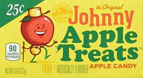 Lemonhead The Original Johnny Apple Treats Hard Candy, 0.80 oz, 24 ct