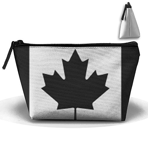 (Fengyaojianzhu Canadian Flag Subdued Black Portable Make-up Receive Bag Storage Capacity Bags For Travel With Hanging Zipper )