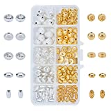 PH PandaHall 1 Box 140 PCS 10 Style Silver Golden Brass Bead Spacers Jewelry Findings Accessories for Bracelet Necklace Jewelry Making