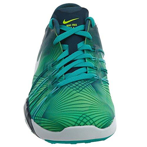 6 Nike Jade Fitness Transparente Volt Femme Free Trainer de Turquoise Blanc Noir Chaussures Moyen pqXxpE8r