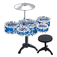 Vi.yo Children 5-Piece Beginners Drum Kit Set Drums Cymbal Music Toy Instrument With Stool