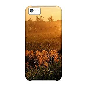 Anti-scratch And Shatterproof Morning Dew On Fence Phone Case For Iphone 5c/ High Quality Tpu Case