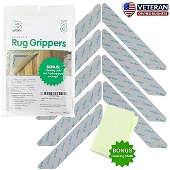 Amazon Com Non Slip Rug Gripper Pads 8 Reusable Corner