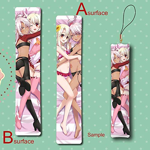 - DEOLBA Fate/kaleid Liner Illya & Chloe 2Girls Lily Loli Cute Anime Mini Dakimakura Keychain Pillow Hanging Ornament Phone Strap Gift