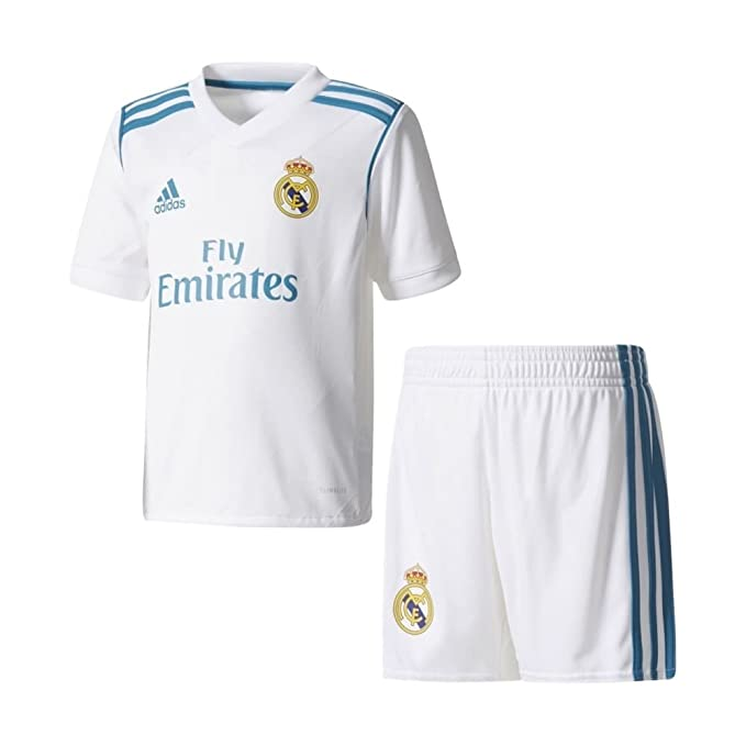 best loved bb3e8 3e51d adidas Youth Real Madrid Home Mini Kit Kid's Soccer: Amazon ...