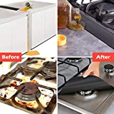 Gas Stove Burner Covers Silicone Kitchen Stove Side Cover Gas Range Protectors Reusable Dishwasher Safe Easy to Clean and Cut