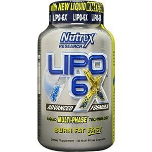Nutrex - LIPO 6 X - 120 Liquid Multi-Phase Capsules - Advance Formula (120 caps) from Nutrex