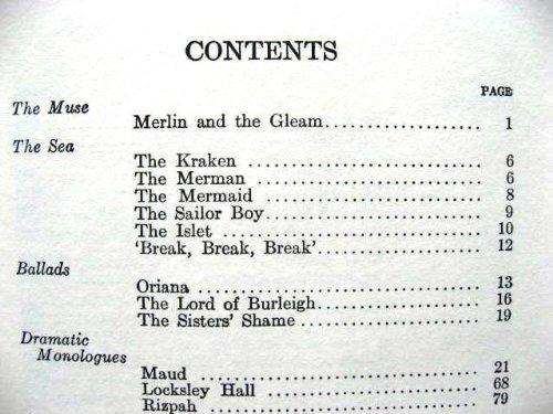 The poems of Alfred, Lord Tennyson: Alfred Tennyson Tennyson: Amazon.com: Books