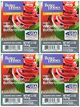 Better Homes and Gardens Sweet Watermelon Buttercream Wax Cubes - 4-Pack from Better Homes & Gardens