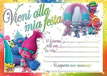 10 invitaciones cumpleaños invitación fiestas Trolls ...