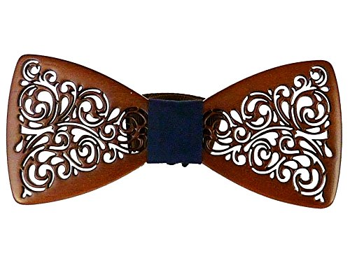 Wooden Bowtie Mens Bow Tie for Anniversary Birthday Wedding Groomsmen Vintage Style Apparel Novelty Accessory