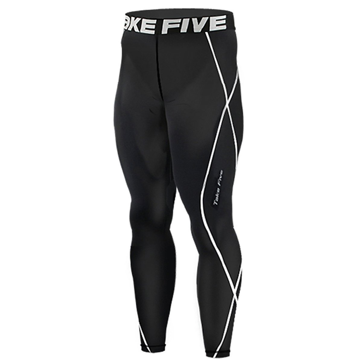 New 011 Skin Tights Compression Leggings Base Layer Black Running Pants Mens Take 5