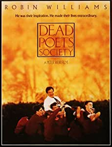 HUGE LAMINATED / ENCAPSULATED Dead Poets Society Film POSTER measures approximately 100x70 cm Greatest Films Collection Directed by Peter Weir. Starring Robin Williams, Robert Sean Leonard, Ethan Hawke.