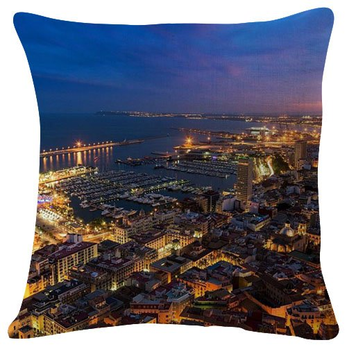 Amazon.com: alicante night - Throw Pillow Case Cushion Cover ...