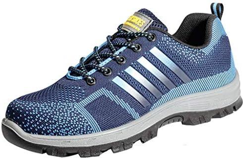 作業靴 軽量で消臭・防ダニの男性用シューズ、夏の通気性とパンク防止の作業靴、現場での耐摩耗性のアンチピアスシューズ 安全靴 (色 : J j, サイズ さいず : 38)