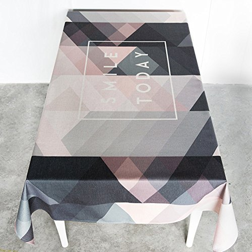 Luxury linen Tablecloths,Geometric Washable retro Rectangle 100% linen 1 piece Tablecloths-N 85x85cm(33x33inch) Minimalist Cooks Dinner