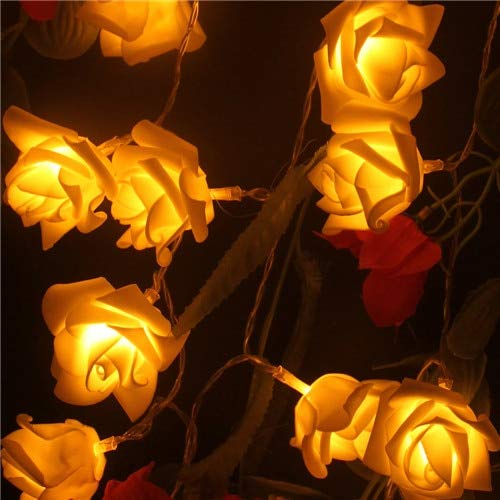 VDT. Events and Parties 2M 20 Wedding Roses LED String Lights Battery Holiday Decoration Light Rosa LED Guirlande Lumineuse