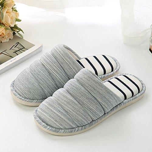 pantoufles en antidérapants amateurs Longless Hiver E laine de à des maison coton l'intérieur chaude pantoufles hommes en épais hiver femmes maison pantoufles fHPqHE
