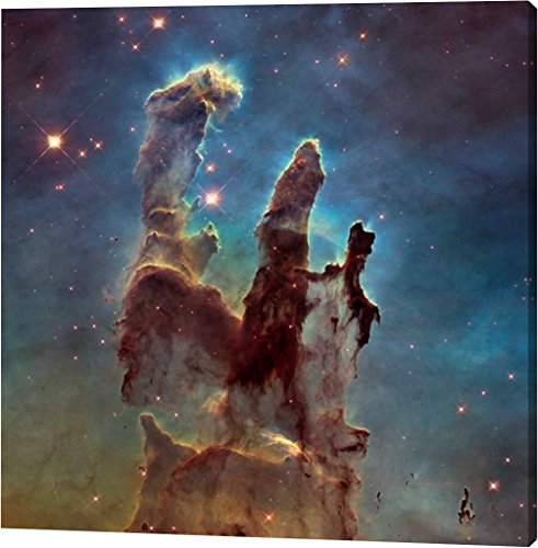 Pillars Framed Poster (2014 Hubble WFC3/UVIS High Definition Image of M16 - Pillars of Creation by NASA - 32