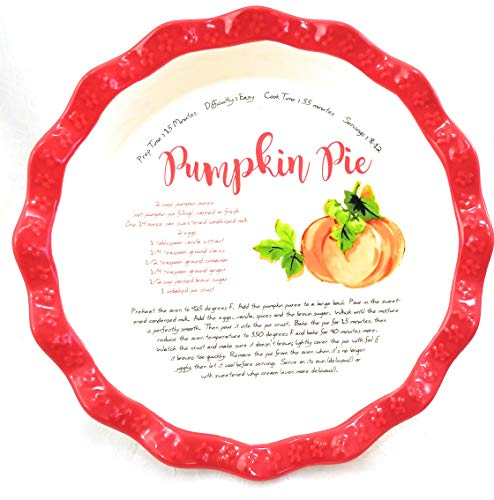 - The Pioneer Woman Dazzling Dahlias Pumpkin Recipe 11.5 inch Pie Plate Dish Pan