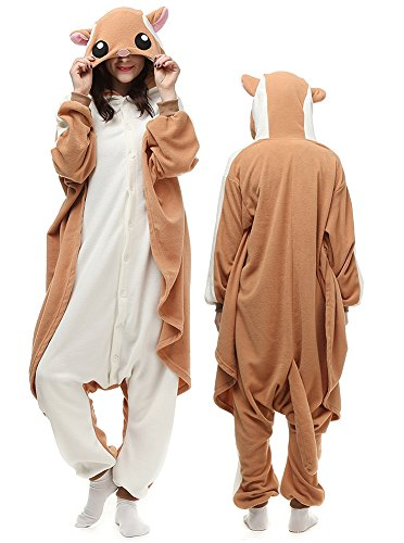 Mybei Adult Pajamas Squirrel Onesie- Unisex One-Piece Cosplay Costumes Outfit for Teens M