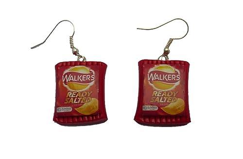 Pendientes de bolsas de patatas fritas: Amazon.es: Joyería