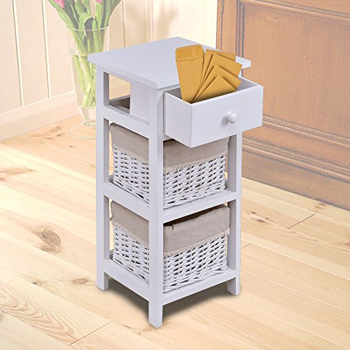 Rattan Filing Cabinet End Bedside Table Nightstand Chest Cabinet Bedroom Furniture Drawer Baskets It Can Be A Wonderful Decoration Your Room White In Modern Style Very Sturdy And (Rattan File Cabinet)