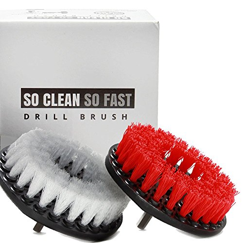So Clean So Fast 2pcs Drill Brush Set for Tile Grout, Carpet