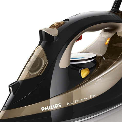 Philips Azur Performer Plus Steam iron GC4527, Steam / Steam boost, T-ionicGlide soleplate, Safety Auto off + Anti-calc 1100 Watts by Philips