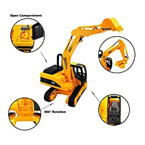 AITING Oversized Construction Excavator Truck Toy for Kids with Shovel Arm Claw