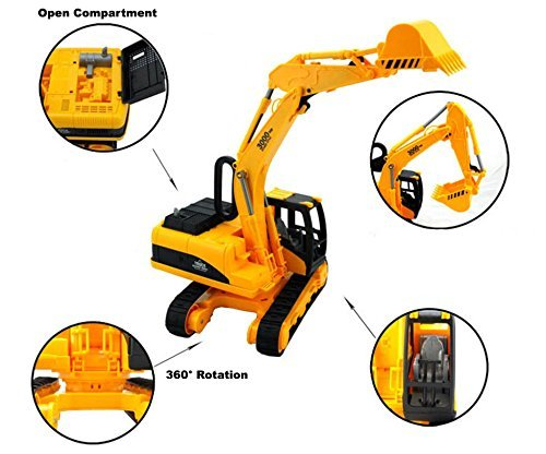 AITING Oversized Construction Excavator Truck Toy for Kids with Shovel Arm Claw SG/_B074J3KXN8/_US