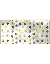 Dog Paw Rectangle Tablecloth Large Dining Room Kitchen Woven Polyester Custom Print