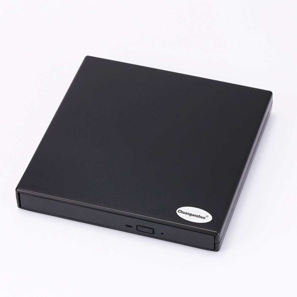Chuanganzhuo USB 2.0 External DVD Combo CD-RW Burner Drive For Mac,Windows 2000/XP/Vista/7/8/10,Ultra Notebook PC Desktop Computer,Plug and Play,No Need to Install Driver with CD Driver,Black (CD-RW)