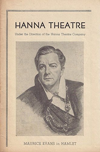 "Maurice Evans ""HAMLET"" Doris Lloyd / Bernard Gersten 1946 Cleveland Playbill"