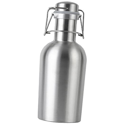 Coctelera Jarra Barril de Acero Inoxidable Botella de Cerveza 1L / 2L para Caliente Agua - 1L