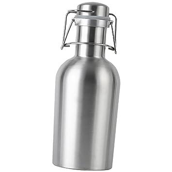 LOVIVER Coctelera Jarra Barril de Acero Inoxidable Botella de Cerveza 1L / 2L para Caliente Agua - 1L