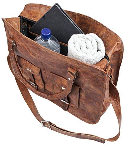 81stgeneration Sac à bandoulière en cuir véritable sac à bandoulière main pour ordinateur portable Voyage vintage travail