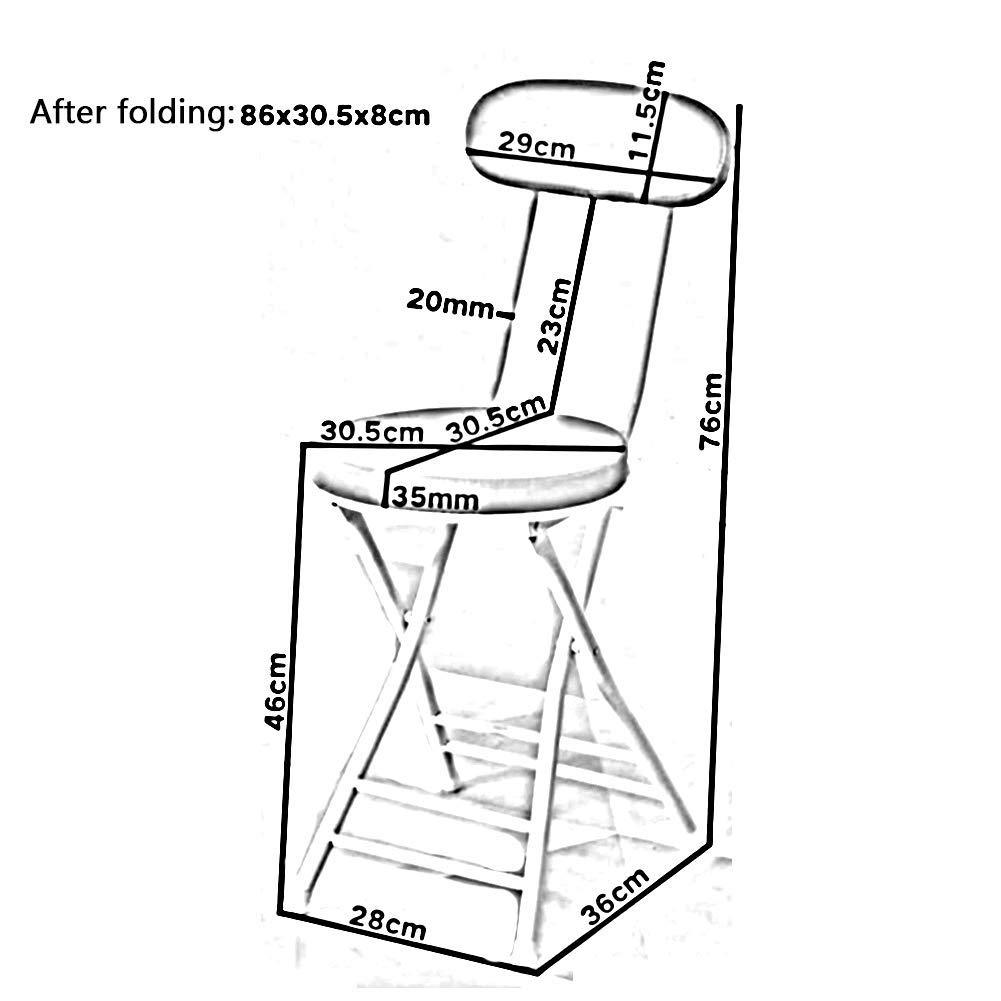 JIEER-C Fritidsstolar Trippel Braced Metall Fällbar stol Sittande Dubbla stag Stapelbar Rund pall Hållbar stark Grönt (Green1)