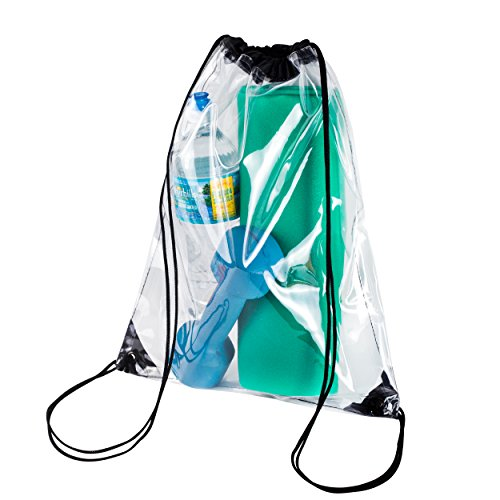 Clear Drawstring Backpack Stadiam Aproved Bag For School, Security Travel, Sports, Waterproof -